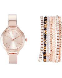 Adrienne Vittadini - Adst1256R165 Rose Gold-Tone Watch & Bracelet Set - Lyst