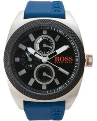 BOSS Orange - 1513245 Silver-Tone & Navy Watch - Lyst