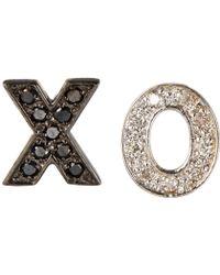 Kacey K - 14K Gold Xo Stud Earrings - Lyst