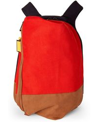 Côte&Ciel - Orange & Navy Isar Twin Touch Laptop Backpack - Lyst