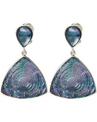 Stephen Dweck - Mother-of-pearl & Hematite Etched Drop Earrings - Lyst