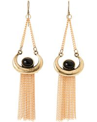 Catherine Stein - Gold Tone Chain-Earrings - Lyst