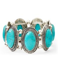 Catherine Stein - Silver-Tone & Turquoise-Tone Stretch Bracelet - Lyst