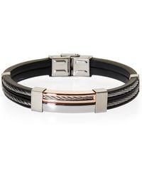 Blackjack - Black & Silver-Tone Bracelet - Lyst