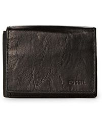 Fossil - Black Ingram Execufold Rfid Leather Wallet - Lyst