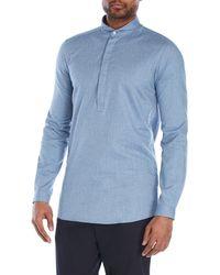 Journal - Herringbone Peasant Shirt - Lyst