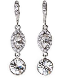 Givenchy - Silver-Tone Drop Earrings - Lyst
