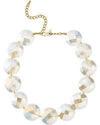 Kenneth Jay Lane - Clear Faceted Circles Necklace - Lyst