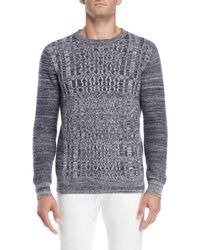 Barque - Marled Cable Knit Sweater - Lyst