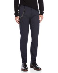Antony Morato - Blue Havel Carrot Stretch Fit Chain Pants - Lyst