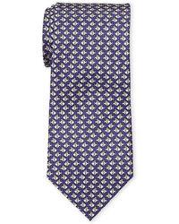 Battistoni - Purple Swimming Fish Silk Tie - Lyst