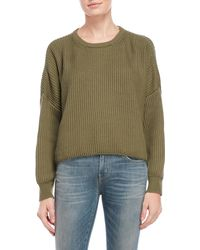 Cotton Candy - Ribbed Crew Neck Sweater - Lyst