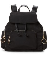 French Connection - Black Henley Small Backpack - Lyst