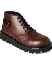 Jil Sander - Dark Brown Leather Ankle Boots - Lyst