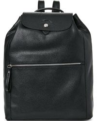 Longchamp - Black Le Foulonne Leather Backpack - Lyst