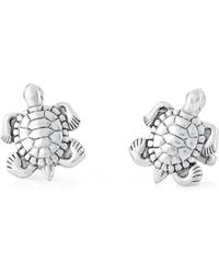 Link Up - Antique Silver-tone Turtle Cuff Links - Lyst