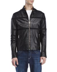 Dirk Bikkembergs - Leather Motorcycle Jacket - Lyst