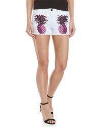 Giamba - Graphic Pineapple Cutoff Denim Shorts - Lyst