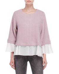 She + Sky - Mixed Media Sweater - Lyst
