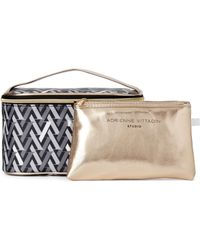 Adrienne Vittadini - Two-piece Printed Cosmetic Bag Set - Lyst