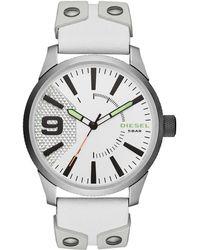 DIESEL - Dz1828 Silver-tone & White Watch - Lyst