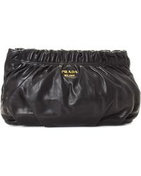 Prada - Gathered Leather Clutch - Vintage - Lyst