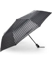 Kensie - Automatic Open Foil Dot Umbrella - Lyst