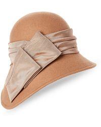 Kathy Jeanne - Asymmetrical Cloche Wool Hat - Lyst