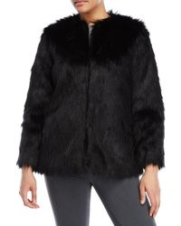 BB Dakota - Black Faux Fur Coat - Lyst