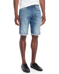 G-Star RAW - Cuffed Denim Shorts - Lyst