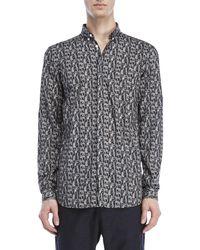 Journal - Printed Button-down Sport Shirt - Lyst