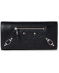 Balenciaga - Black Classic Money Continental Wallet - Lyst