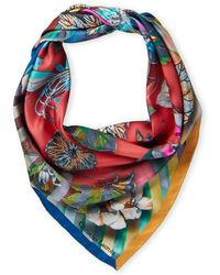 Christian Lacroix - Silk Paisley Floral Scarf - Lyst