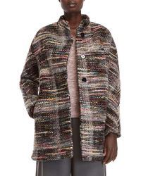 Roberto Collina - Single-breasted Tweed Coat - Lyst