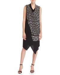 NIC+ZOE - Draped Asymmetrical Dress - Lyst