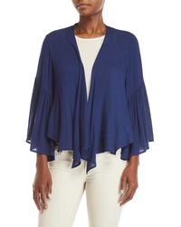 Cotton Candy - Bell Sleeve Draped Cardigan - Lyst