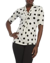 Premise Studio - Twist Front Printed Top - Lyst