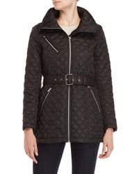 Marc New York - Belted Quilted Jacket - Lyst