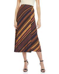 Ottod'Ame - Striped Wrap Skirt - Lyst