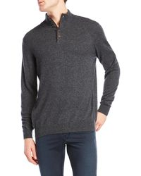 Forte - Cashmere Ribbed Mock Neck Sweater - Lyst