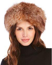 Surell - Real Fox Fur Headband - Lyst