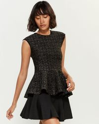 RVN Lurex Peplum Top
