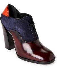 Jil Sander - Leather Block Heel Oxfords - Lyst