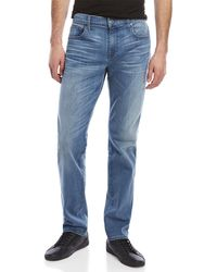 7 For All Mankind - Luxe Performance Straight Jeans - Lyst