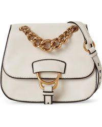 eda272c76b0 Miu Miu - Chalk White Dahlia Leather Crossbody - Lyst