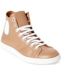 Marc Jacobs - Tan & White Leather High-top Sneakers - Lyst