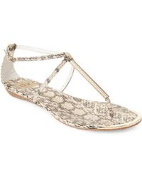 b270ace959abb0 Lyst - Dv By Dolce Vita Gavin Faux Leather Slides in Natural