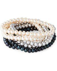 Tara Pearls - Set Of 6 Pearl Stretch Bracelets - Lyst