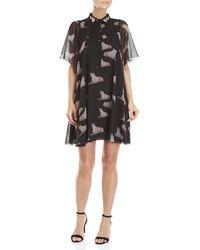 Giamba - Black Leopard Print Tent Dress - Lyst