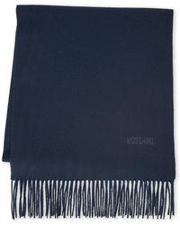 Moschino - Fringe Wool Scarf - Lyst